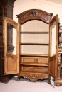 Loveley Louis XV style French walnut vitrine with glass door A4754E