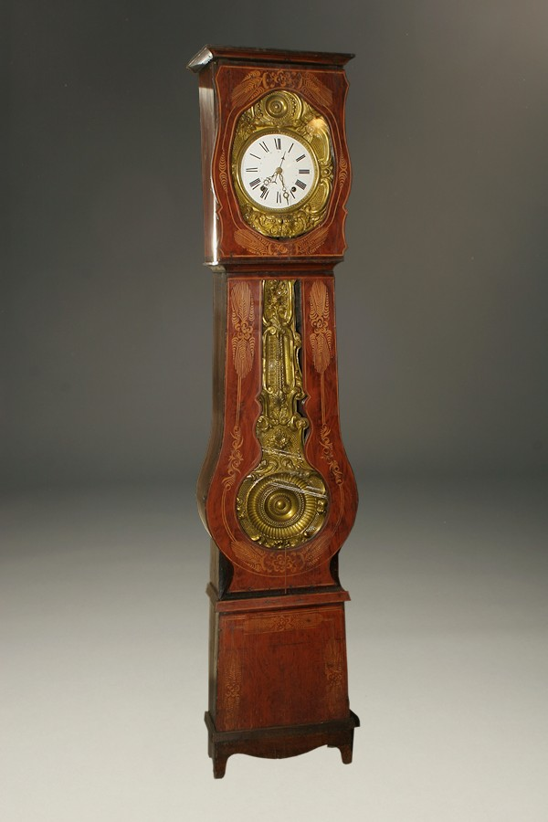 19th Century French Comtoise Morbier Clock With Decorated