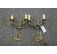 Pair of French Empire two arm sconces A5036