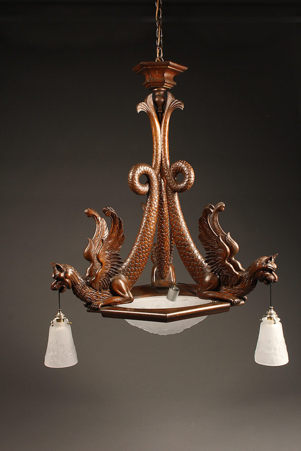 Home Lighting Chandeliers Wood French Hand Carved