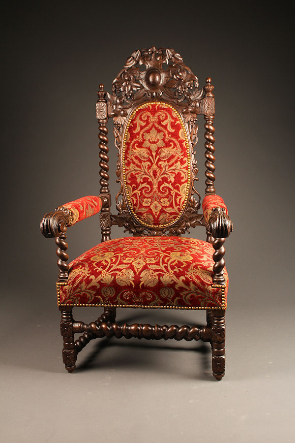 Pair Of French Henry Ii Style Armchairs