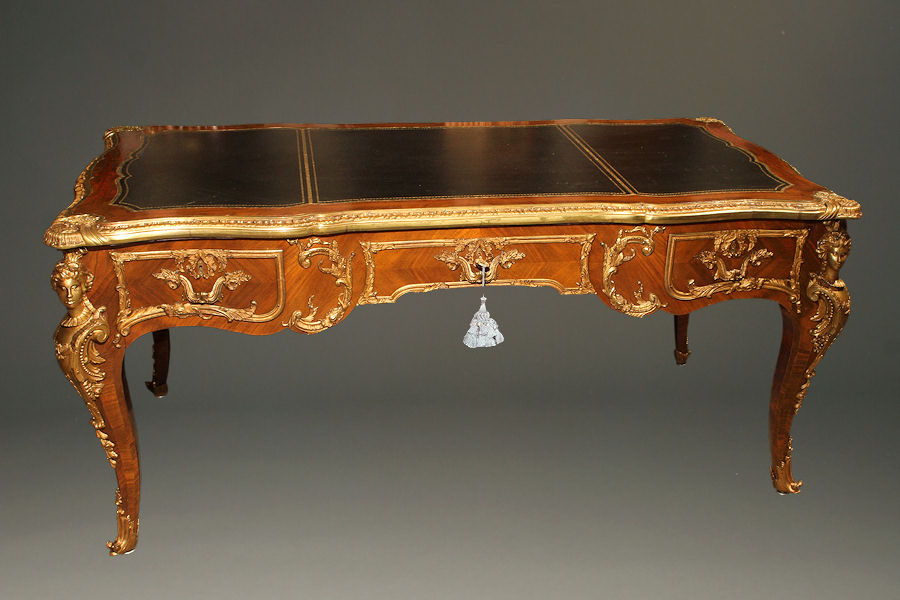French Louis Xv Style Desk Bureau Plat