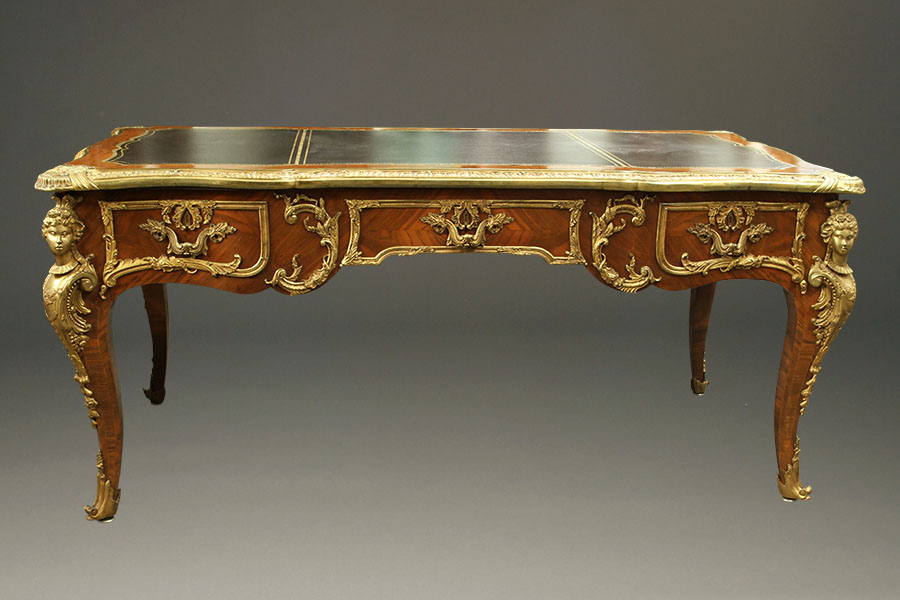 French Louis Xv Style Desk Bureau Plat A5204h