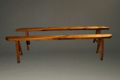 Pair of mid 19th century farmhouse benches A5244A1