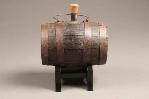 19th century French wine barrel on stand A5251A1