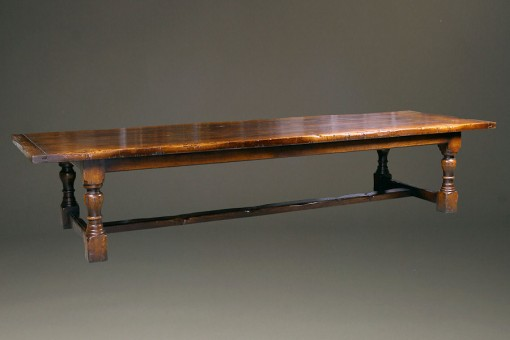 Massive oak refectory table with leaves A5265A1