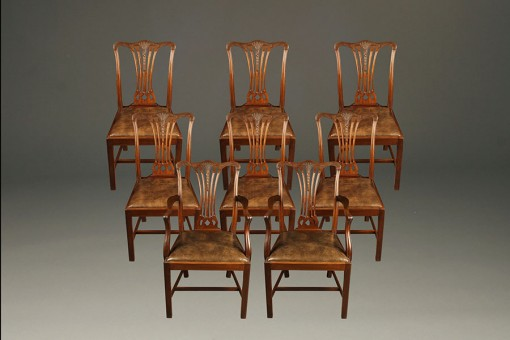 A5307A-chairs-chair-set-chippendale-english1 - Antique Set Of 8 English Chippendale Chairs.