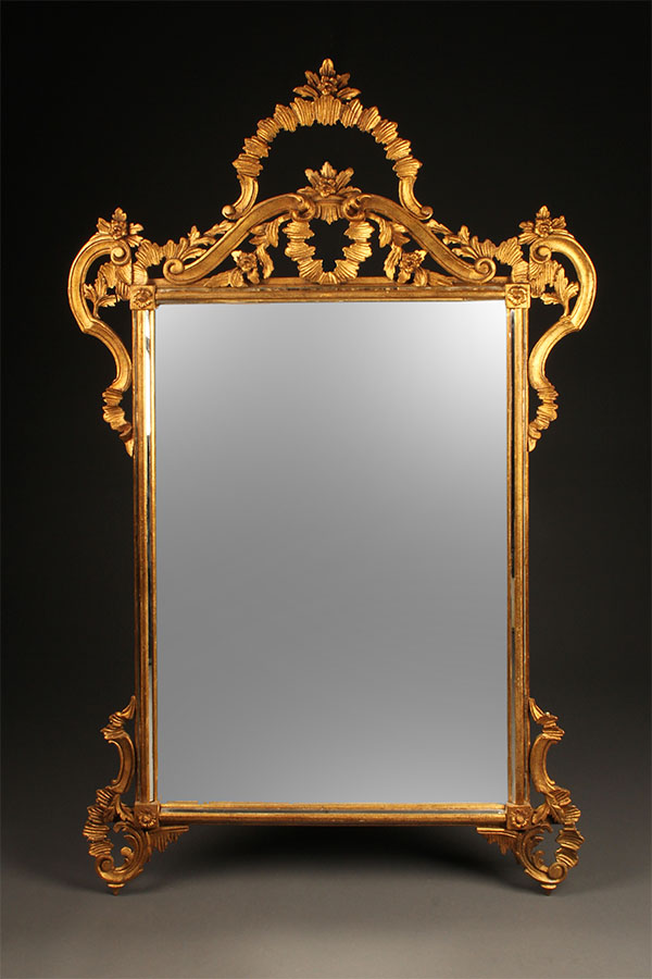 Antique Hand Carved Italian Mirror