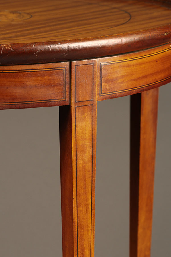 A5317C Antique Lamp Table Round