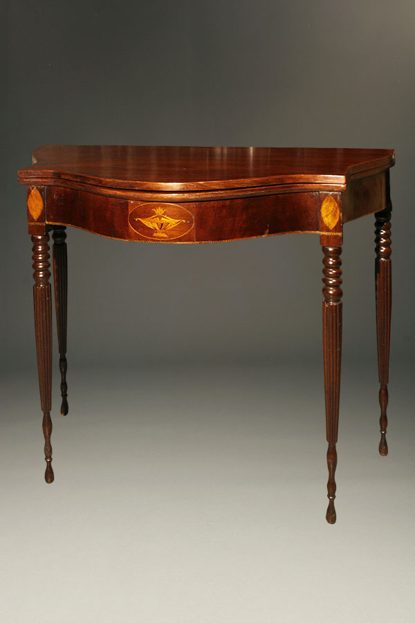 A5334A-sheraton-game-table-antique-table - Antique Sheraton Style Game Table.