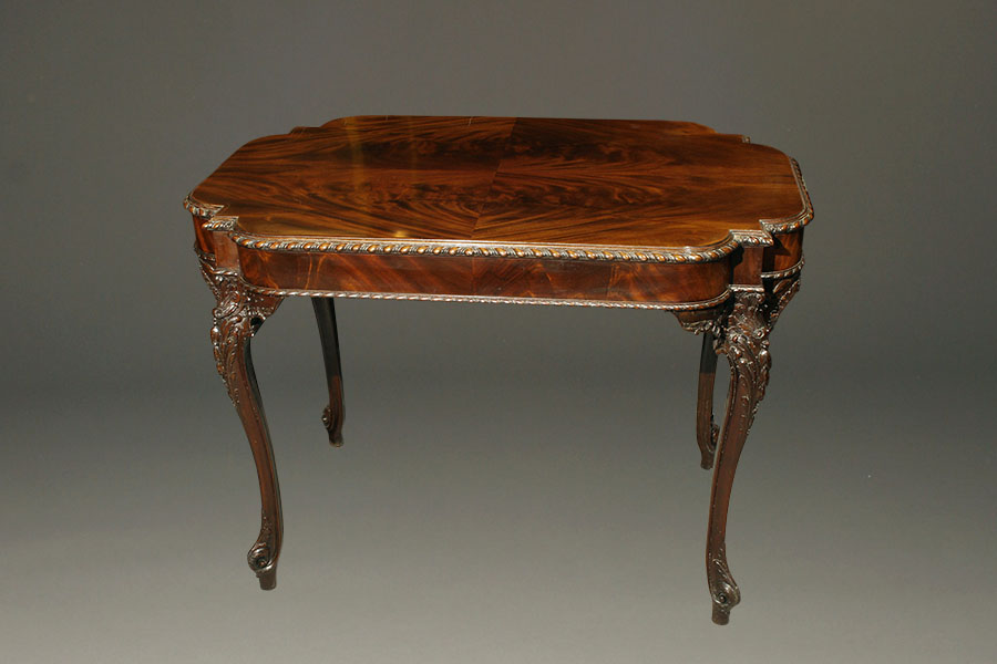 A5335A-chippendale-english-antique-table-tea1 - Antique Chippendale Style Tea Table.