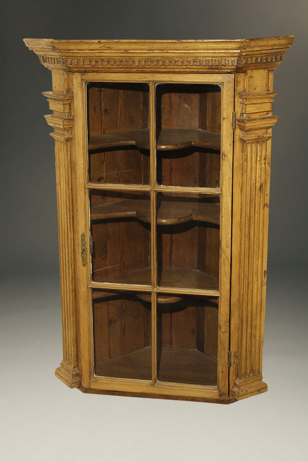 A5338A-english-antique-corner-cupboard-hanging-pine1 - Antique English Corner Cupboard.