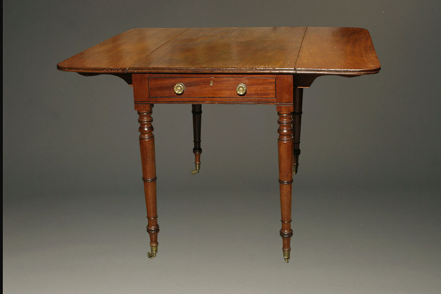 A5348A Antique Federal Dropleaf Drop Mahogany1