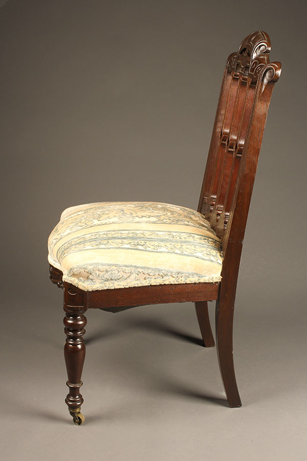 A5357C-antique-french-side-chair-pair & Pair of antique French side chairs.