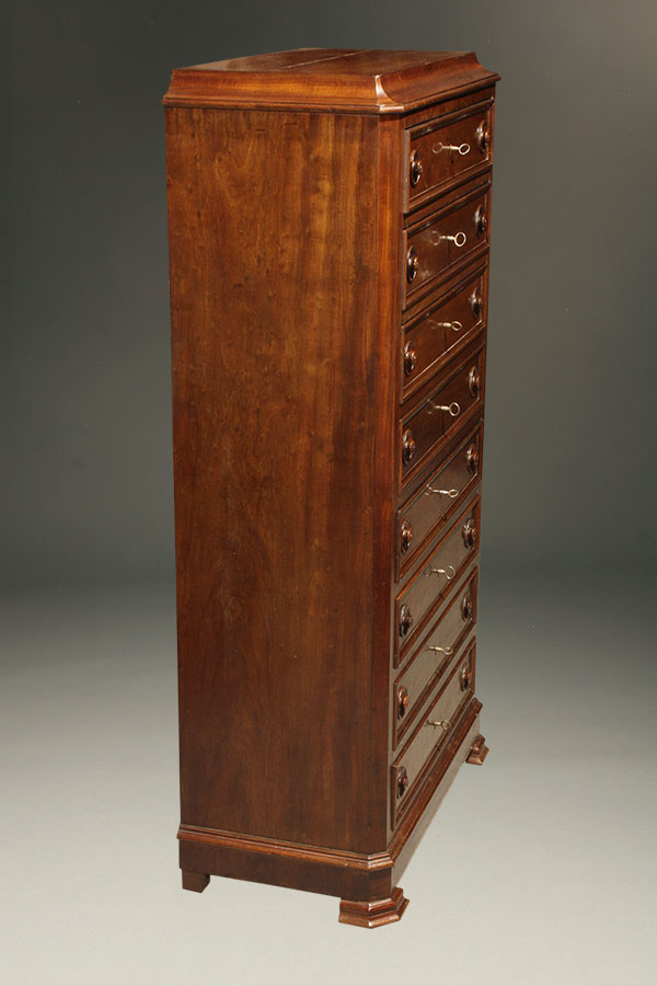 Gorgeous Antique Lingerie Chest In Mahogany