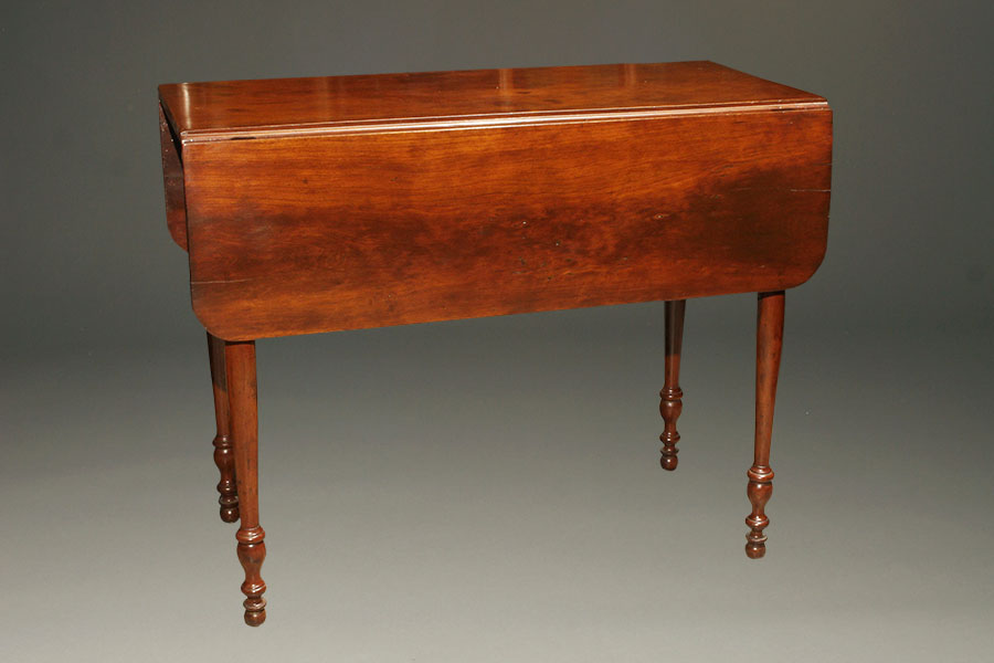 Antique Drop Leaf Table >> Antique Mahogany Drop Leaf Table