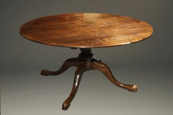 A5377C-english-round-leaves-dining-table-walnut
