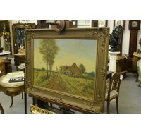 19th century European oil on canvas, Dutch/Flemish signed.