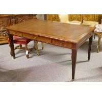 19th century French Gent´s writing table inlaid mahogany 3 drawer