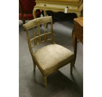 Louis XVI side chair with carved arrow motif