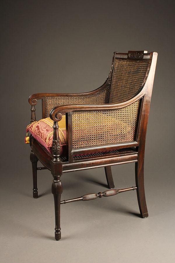 Antique Adams Style Arm Chair