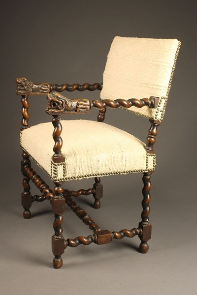 Antique English Renaissance arm chair.