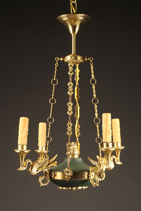 French Chandelier Elegant Lantern Gold With French