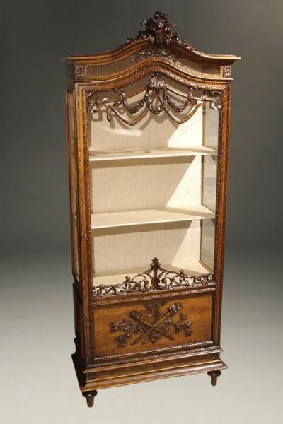 A5409A-antique-cabinet-louis XVI-vitrine