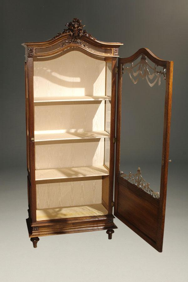 Antique Louis Xvi Style Curio Cabinet