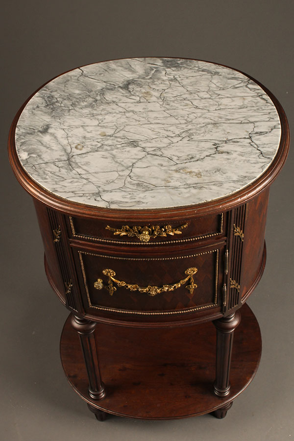Antique French Marble Top Nightstand