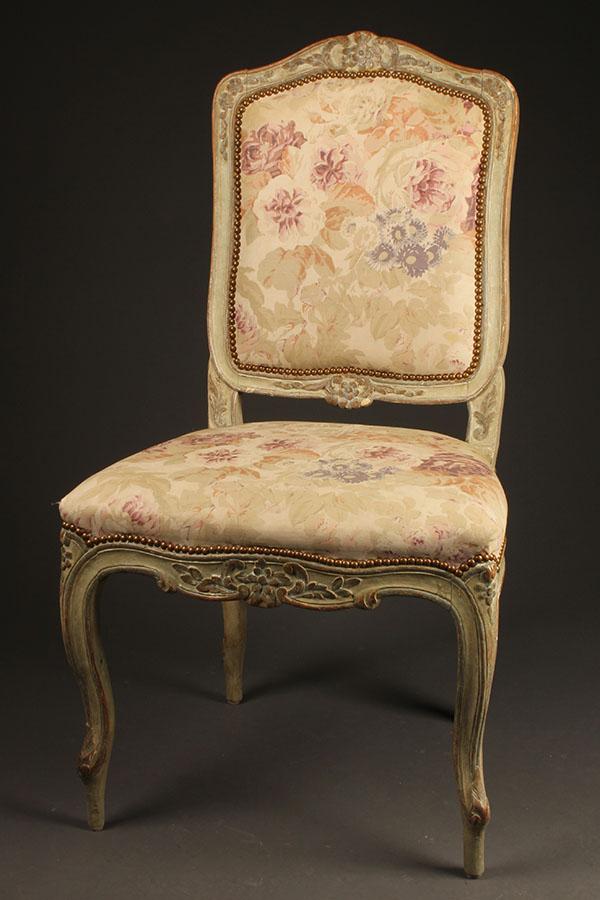 A5415B Antique Pair Louis XV Chairs Side