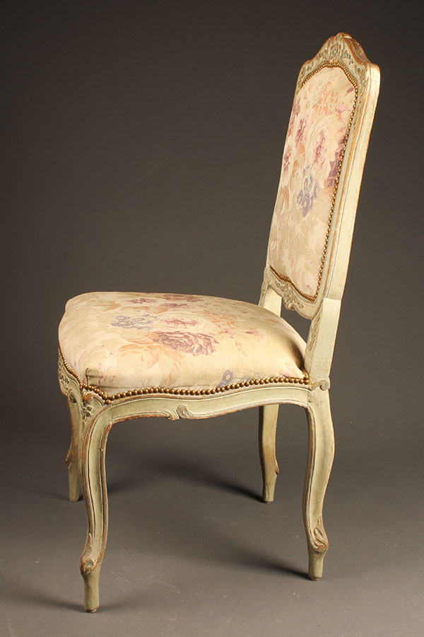 A5415C-antique-pair-louis XV-chairs-side - Antique Pair Of French Louis XV Style Side Chairs.