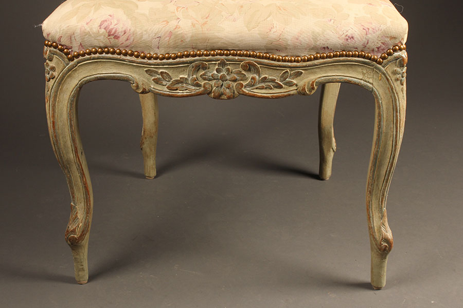 Super Antique pair of French Louis XV style side chairs. UH84