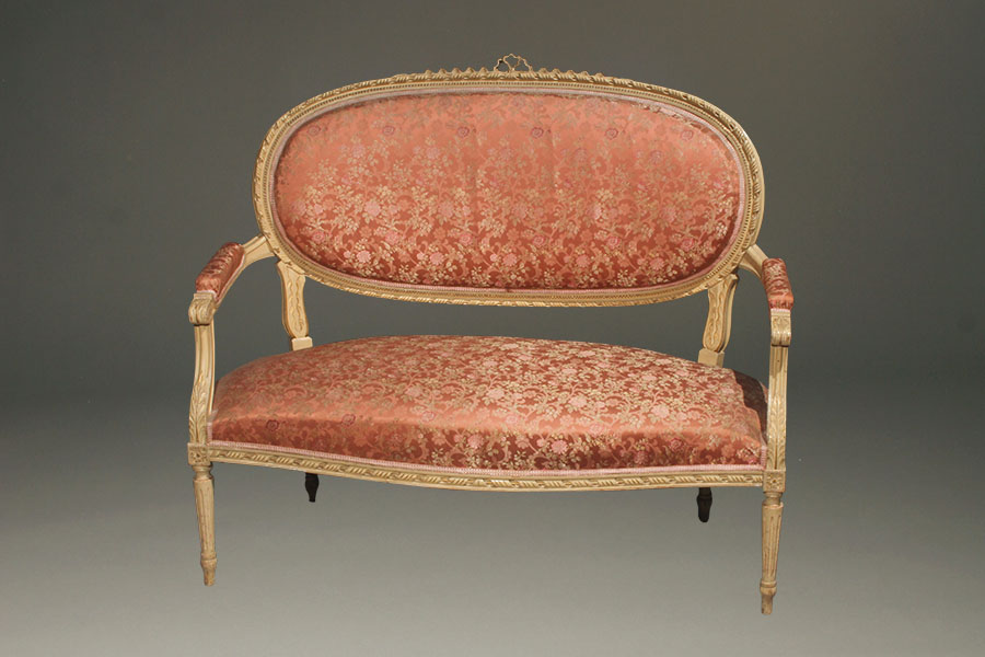 A5422A Antique Louis XVI Settee French