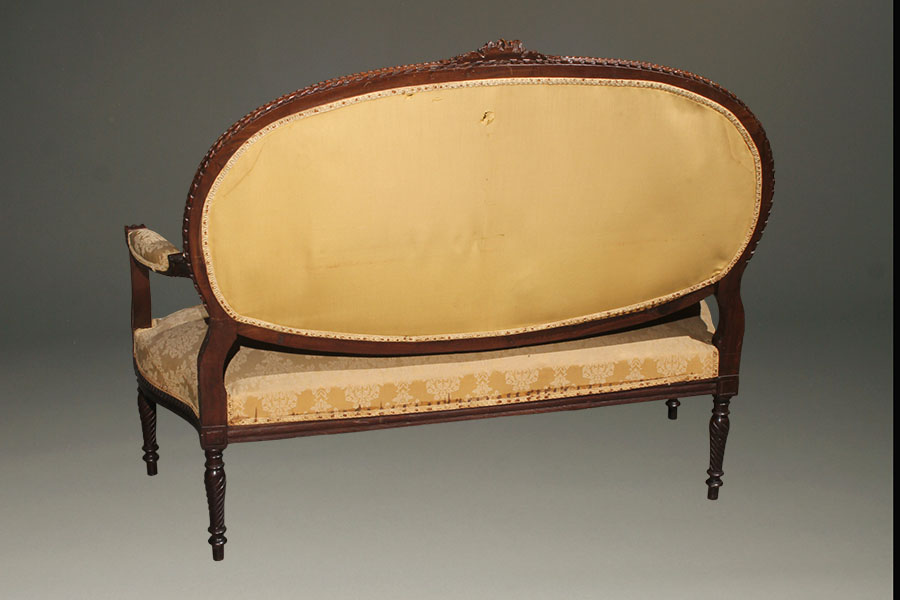 A5423C Antique Settee French Louis XVI