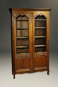 Pair of oak bookcases A5413B
