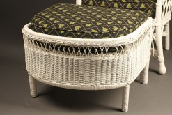 Wicker armchair with stool A5442C