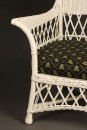 Wicker armchair with stool A5443B