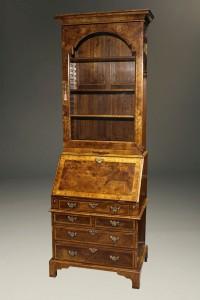 A5446A-english-secretary-bookcase-walnut