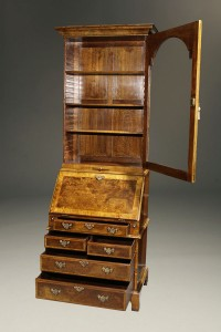 A5446B-english-secretary-bookcase-walnut