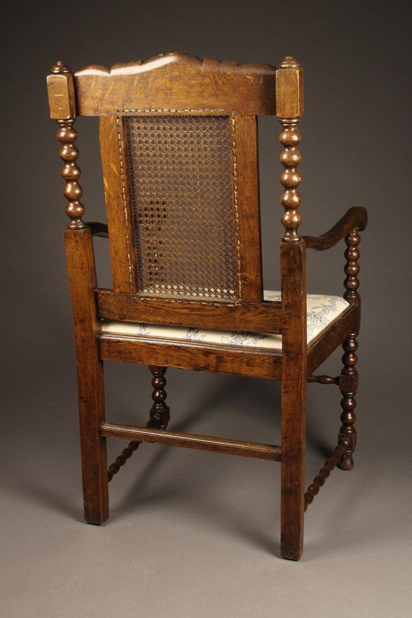 Pair Of Antique Jacobean Arm Chairs
