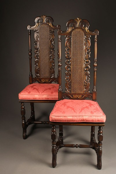 Pair of Baroque style chairs A5455A