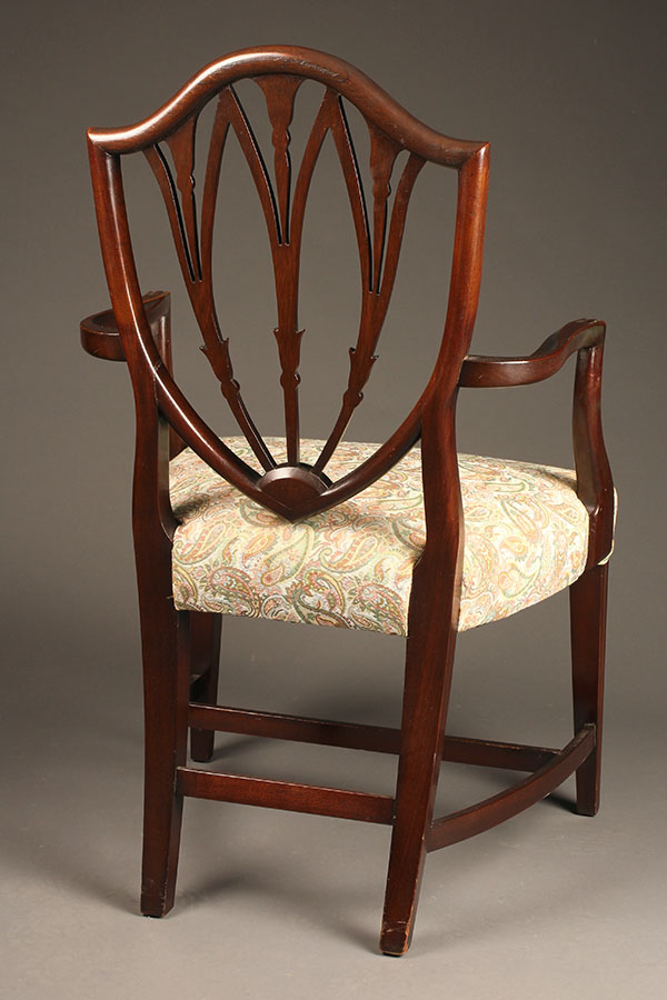 Pair of Hepplewhite style arm chairs