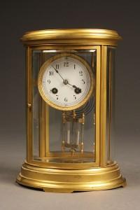 Oval crystal regulator shelf clock A5471A
