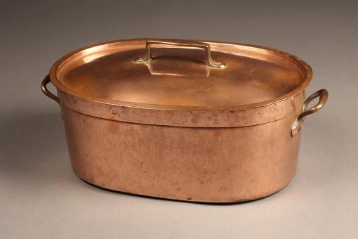 Oval Copper Pot A5477A