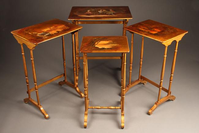 vernis Martin nesting tables