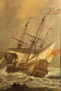 Oil on canvas featuring English ship A5491B