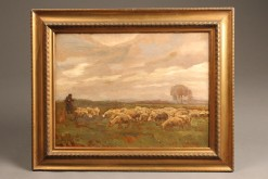 Landscape with sheep A5492A