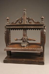 Carved oak book press A5499C