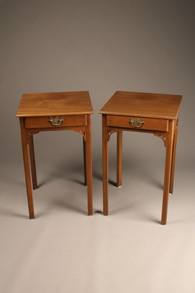 Pair of Chippendale style end tables A5516A